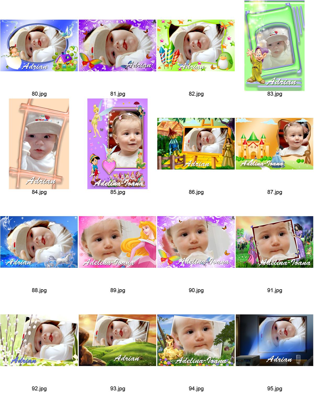 Rame digitale pentru poze copii